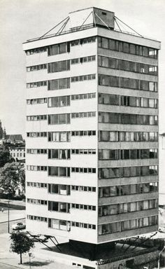 Example of post-war modernism in Wrocław