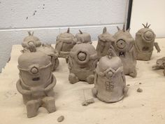 Minions, Garden Gnomes, Fish and Owls, Middle School Clay Lesson