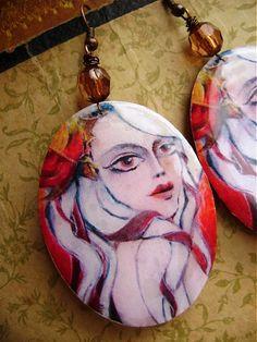 Chanson Christmas Bulbs, Resin, Holiday Decor, Earrings, Ear Rings, Stud Earrings, Christmas Light Bulbs, Ear Piercings, Ear Jewelry
