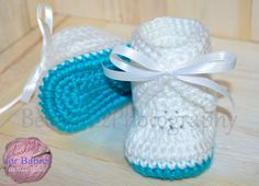 Size 0-3 months Handmade Crochet Baby Girl Boots by Hooked4Babies