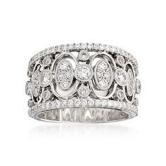 Simon G. 1.05 ct. t.w. Diamond Band Ring in 18kt White Gold. Size 6.5   #761332 @ ross-simons.com