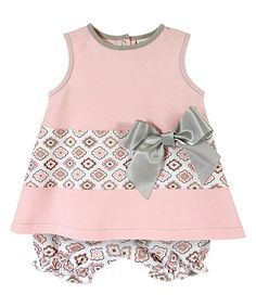 Another great find on #zulily! Pink Diamond Flower Top & Bloomers Set - Infant #zulilyfinds