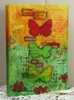 Altered art butterflies - so pretty