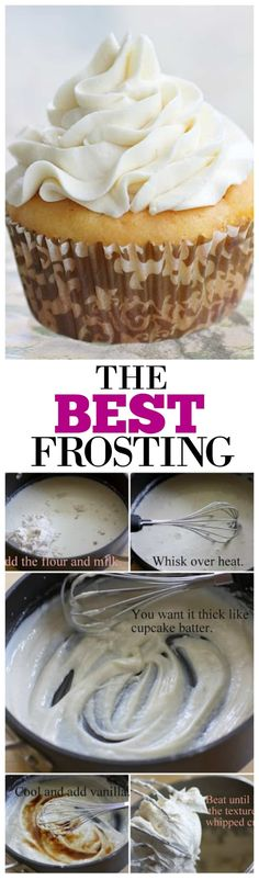The Best Frosting - light, not so sweet, and originally meant for red velvet! the-girl-who-ate-everything.com