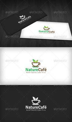 Nature Café Logo — Vector EPS #brown #plant • Available here → https://graphicriver.net/item/nature-caf-logo/2629878?ref=pxcr