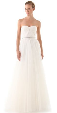 Save 35% off on your Reem Acra Strapless gown at Shopbop.com. Yes Please!