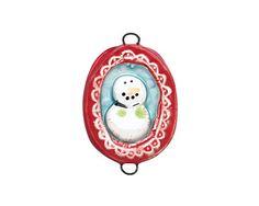 Jangles Ceramic Framed Snowman Link 39x25mm
