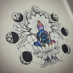 Representação de Buda , na minha maneira meditando sobre sua lotus embaixo de uma árvore alcançando sua paz astral absoluta, longe de sofrimento, descontentamento e insatisfações!!! Desenho disponível para tatuar !!! Orçamento e agendamento pelo tel 27 999805879 com @bruno_a_luppi !!! #kadutattoo #drawn #desenho #design #drawing #buda #buddha #budismo #astral #universe #peace #paz #sketch #rascubho #tattoo #tatuagem