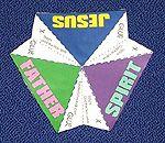 Kid's 3d trinity pyramid: Understanding God and the Trinity, a Sunday School Kids Activity