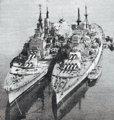 HMS Vanguard & HMS Duke of York, Royal Navy battleships