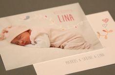 Sweet Lina | Birth Announcement | Geburtsanzeige