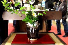 Karatsu: Chosen Karatsu vase at Nakazato Tarouemon studio