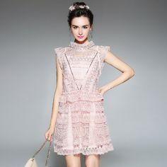 Aofuli бренда L-5XL Большие размеры женские летние платье Новинка 2017 года дизайнер с коротким рукавом Люкс Бисероплетение Кружева платья vestidos розового, белого цвета