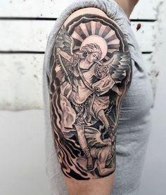 Lorien Tattoo San Miguel Arcangel 1º Sesion Yu Tattoos Miguel
