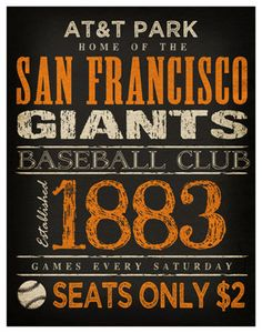 San Francisco Giants Print   11x14  AT Park by TheLemonPeel