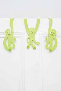 Monkey Door Hangers in Green - Urban Outfitters