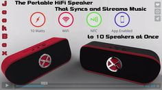 JookBox: The Portable HiFi Speaker That Syncs and Streams Music to 10 Speakers at Once. It's a MultiRoom WiFi Speaker System That Broadcasts its Own Dedicated Wireless Network, Without a Hub.