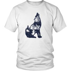 Unisex tees and v-necks are super soft combed and ring-spun cotton, with durability and quality to last for many washes.Women's crewneck tees are a soft ring spun combed cotton/poly blend. Wolf T Shirt, Wolf Howling, Mens Tees, Unisex, Cotton, Shirts, Tops, Fashion, Moda