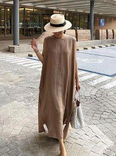 Linen Dresses, Casual Dresses, Chiffon Dresses, Fall Dresses, Linen Summer Dresses, Loose Dresses, Formal Dresses, Look Street Style, Look Fashion