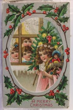 Christmas Xmas Greetings Postcard Old Vintage Card View Standard Souvenir Postal | eBay