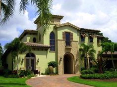 Spanish style homes – Mediterranean Home Decor Mediterranean Homes Exterior, Mediterranean Home Decor, Spanish Style Homes, Spanish House, Multipurpose Room, Family House Plans, House Roof, Cool House Designs, House Painting