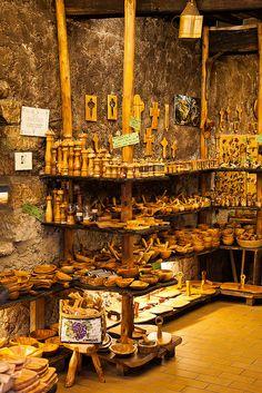 Wooden Shelves, Tourrettes-sur-Loup, Provence, France