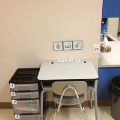 Structured work station. Repinned by AutismClassroom.com Follow us at http://www.pinterest.com/autismclassroom/