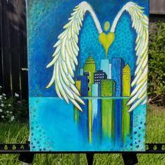 Acrylic painting #artbykimberly #kimberlymccormick #acrylicartist #angelart #propheticart #christianart #contemporarychristianart #spiritualart #womenartist #houstonartist