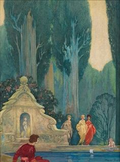 Fountain By Franklin Booth ,1915