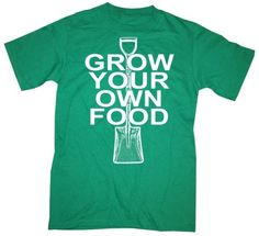 Mens GROW Your OWN FOOD T Shirt by happyfamily on Etsy, $16.00