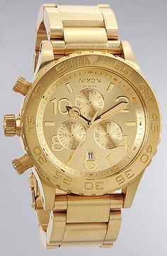 Nixon The 42-20 Chrono Watch in All Gold