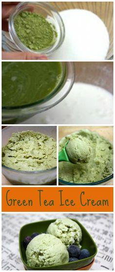 Home Made Green Tea Ice Cream. http://www.ifood.tv/recipe/homemade-green-tea-ice-cream
