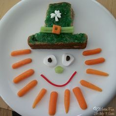 Collection of St. Patrick's Day Food Ideas - cute way to dres up an after school snack!