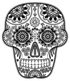 Día de los Muertos Sugar Skull (Original) by cavalaxis