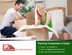 Easyhomemovers is a qualified packing companies in dubai for your individual things and Households shipments.