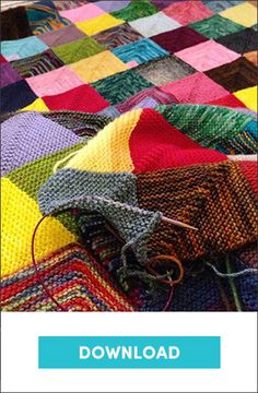 Ravelry: memory blanket pattern by Georgie Hallam - a free mitred square blanket how to Love Knitting, Knitting Patterns Free, Baby Knitting, Free Pattern, Knitting Squares, Knitting Yarn, Beginner Knitting, Blanket Patterns, Pom Poms
