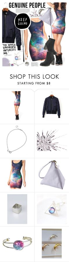 """GENUINE PEOPLE - Galaxy inspiration!"" by anita-n ❤ liked on Polyvore featuring ...Lost, Dr. Martens, women's clothing, women's fashion, women, female, woman, misses and juniors"
