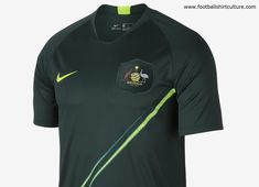 45a41eb8c This is the new Australia 2018 away football shirt by Nike which will be  used during the 2018 World Cup. Green and gold are the colours of the  Australian ...