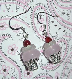 Beaded Cupcake Handmade Earrings by CraftyChic90 on Etsy