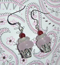 Beaded Cupcake Handmade Earrings by CraftyChic90 on Etsy
