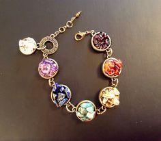 SALE! Chakra bracelet, healing crystals, genuine gemstone, yoga jewelry