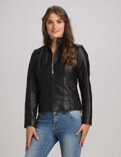 Misses | Jackets & Coats | Jackets | Roz & ALI Faux Leather Scuba Jacket
