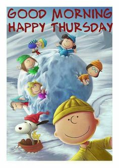 Good Morning... Happy Thursday... With Charlie Brown & Friends (winter)