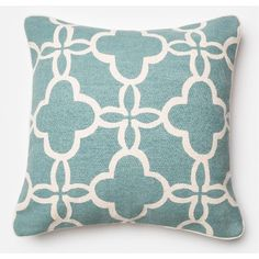 P0174TEALIVORY Ivory & Teal 22 Pillow