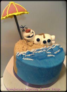 Frozen Olaf chillin' cake