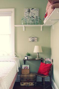 Wall Shelves Around A Corner For Extra Storage Nursery Room
