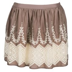 Lily White Juniors Border Crochet Skirt #VonMaur