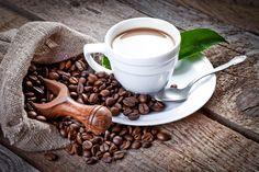 Напитки Кофе Зерна Чашка Ложка Еда