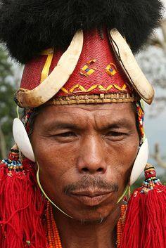 india - nagaland    Konyak Naga.