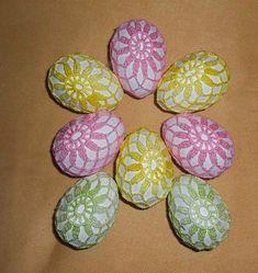 Látky a klubíčka: Háčkovaná vajíčka / Crochet eggs
